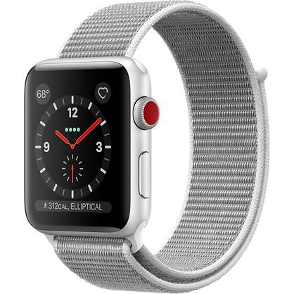 Apple Watch Gen 3 Series 3 Cell 38mm Silver Aluminum - Seashell Sport Loop MQJR2LL/A
