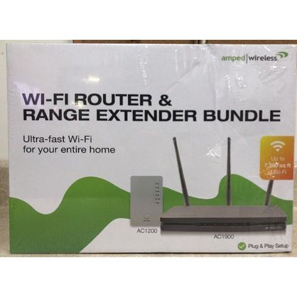 Amped Wireless B1912 Ultra Fast Wi-Fi Router and Range Extender Bundle