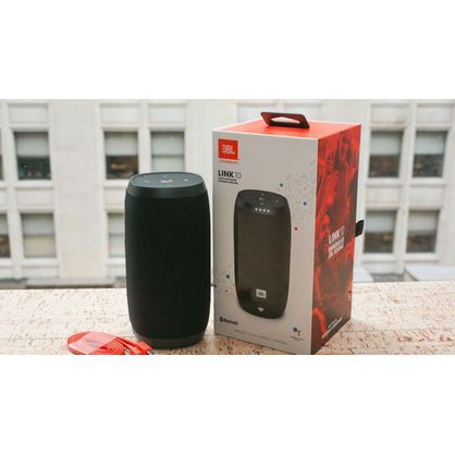 JBL JBLLINK10BLK Link 10 Water-Resistant Voice-Activated Smart Speaker with Google Assistant