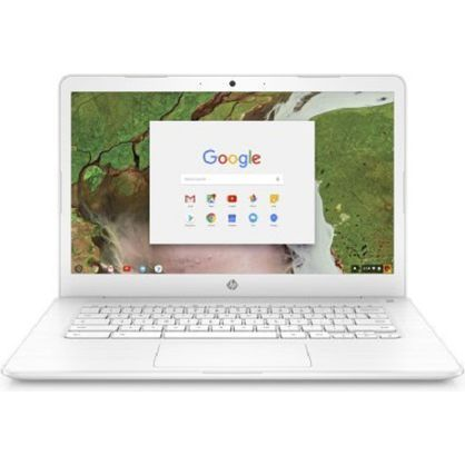 HP 14-ca051wm Chromebook Intel Celeron N3350 Processor 4GB SDRAM 32GB eMMC Snow White