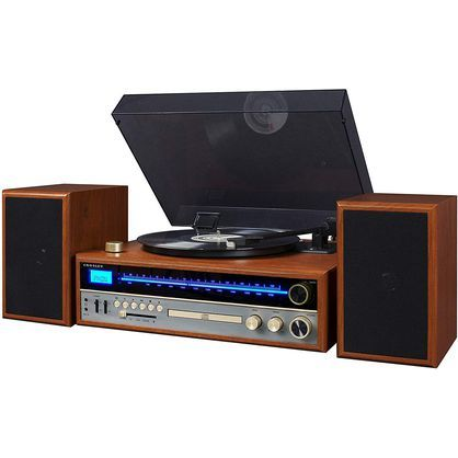 Deer Park Distributors CR6038A-WA Crosley 1975T Turntable System with Bluetooth, CD, AM/FM and Included Speakers, Walnut