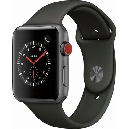 Apple Watch Gen 3 Series 3 Cell 42mm Space Gray Aluminum - Gray Sport Band MR2X2LL/A