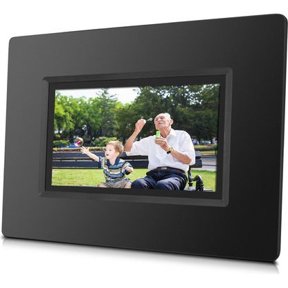 "Sungale CPF716 7"" Cloud Digital Photo Frame With Touch Screen Operation, Black"