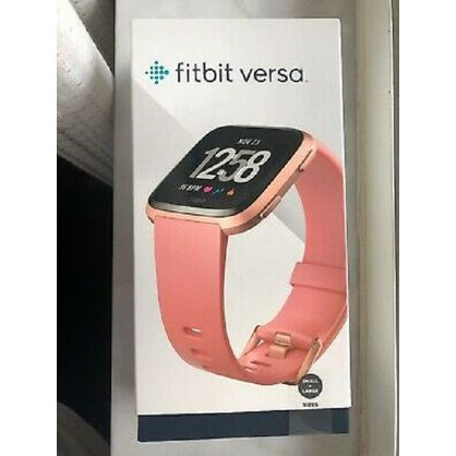 Fitbit FB504RGPK Versa Smart Watch, Peach/Rose Gold