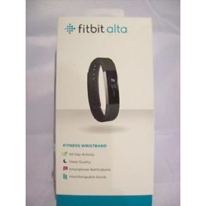Fitbit FB406BKL-EU Alta Fitness Tracker, Silver/Black, Large