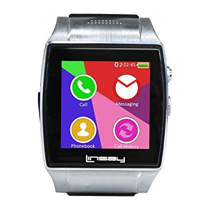 "LINSAY EX-5L 1.5"" Smart Watch Executive with Camera and Micro SD Card Slot"