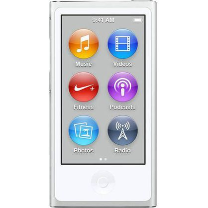 Apple iPod Nano 7th Generation 16GB Silver MKN22LL/A