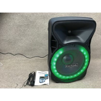 Blackweb BWA17AA007 1500-Watt Light-up PA Speaker