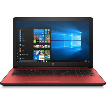 "HP 15-bs134wm 6BS61UA Pavilion 15.6"" HD Pentium Gold 4417U 2.3GHz 4GB RAM 500GB HDD Win10 Home Red"