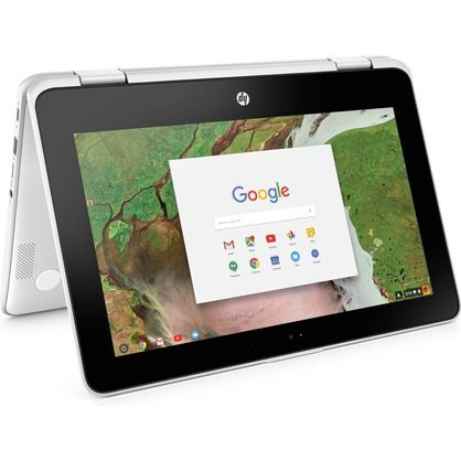 "HP 11-AE051WM Chromebook x360 11.6"" HD Touchscreen Celeron N3350 1.1GHz 4GB RAM 64GB eMMC Snow White"