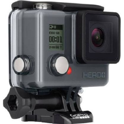 GoPro CHDHB-101 Camera Hero+ LCD HD Video Recording Camera - Black