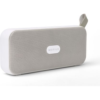 MOTILE 38561 Portable Bluetooth Wireless Speaker, White