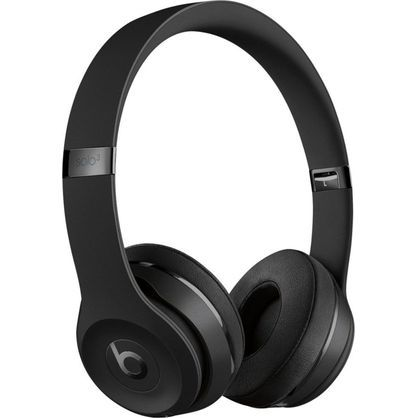 Beats by Dr. Dre Solo3 Wireless Matte Black Beats Icon Collection On Ear Headphones MX432LL/A