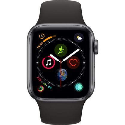 Apple Watch Gen 4 Series 4 Cell 40mm Space Gray Aluminum - Black Sport Band MTUG2LL/A