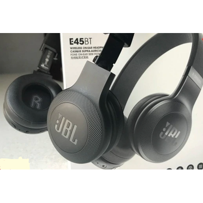 JBL JBLE45BTBLKAM Wireless On-Ear Headphones with One-Button Remote and Mic Black