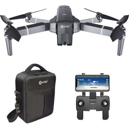 Contixo F24 5GHz WiFi GPS Foldable Quadcopter Drone With 1080P Camera, Gray
