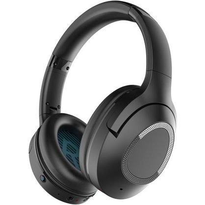 iDeaPlay V402 Wireless Over Ear Headphones with Microphone Stereo Sound - Black