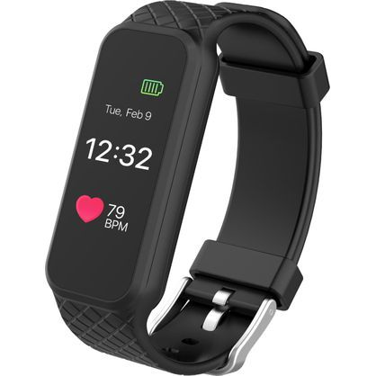 3Plus 3PL-HR-BLK Fitness Activity Tracker with Heart Monitor, Black