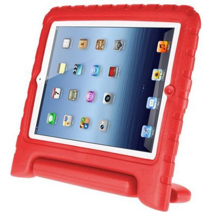 Totally Tablet KIDCASE-AIR-RED Protective Kids Case for Apple iPad Air With Handle, Red